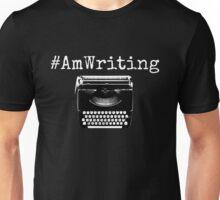 #AmWriting Typewriter Author and Writer Unisex T-Shirt