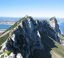 On Top of the Rock of Gibraltar by Dennis Melling
