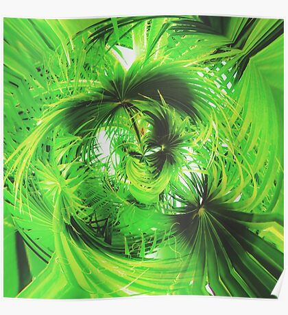 spiral green leaves texture  Poster