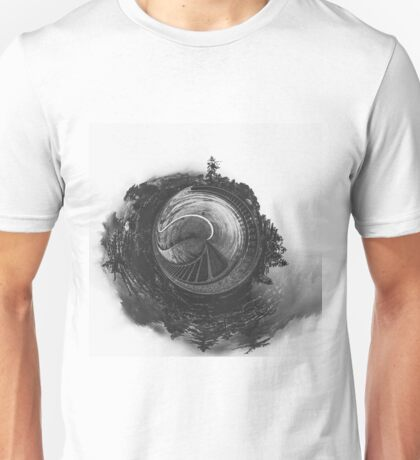 tree and bridge in the forest Unisex T-Shirt