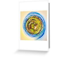 green nature with blue sky  Greeting Card