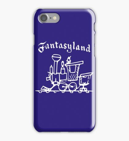 Vintage Stamped Fantasyland Casey Jr white iPhone Case/Skin