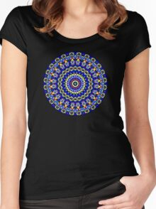 Happi Mandala 8 Women's Fitted Scoop T-Shirt