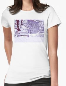 Snow Scenes of Winter Womens Fitted T-Shirt