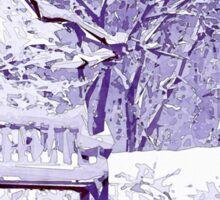 Snow Scenes of Winter Sticker