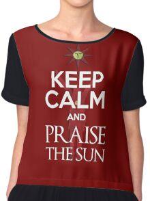 Keep Calm and Praise The SUn Chiffon Top