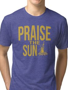Praise the sun - gold Tri-blend T-Shirt