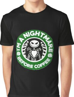Nightmare Before Coffee Graphic T-Shirt