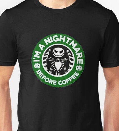 Nightmare Before Coffee Unisex T-Shirt