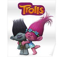 trolls poppy and branch Poster