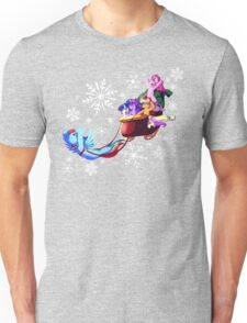 Dashing through the snow Unisex T-Shirt