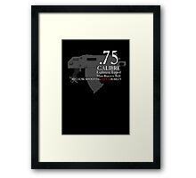Because Shooting Twice is Silly Framed Print