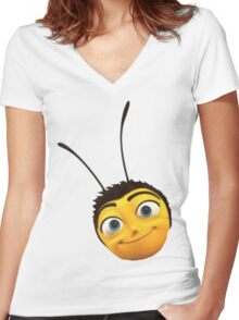 Barry B. Benson from the Bee Movie Women's Fitted V-Neck T-Shirt