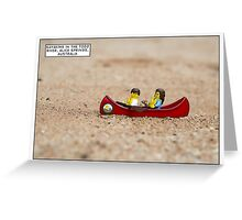 Kayaking. Alice Springs. Australia Greeting Card