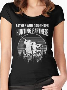Father and Daughter Hunting Partners T-Shirt Women's Fitted Scoop T-Shirt