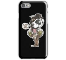 Beer Me Bro Pitbull With Bowler Hat iPhone Case/Skin