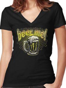 Beer Me Tie Dye Pint Women's Fitted V-Neck T-Shirt