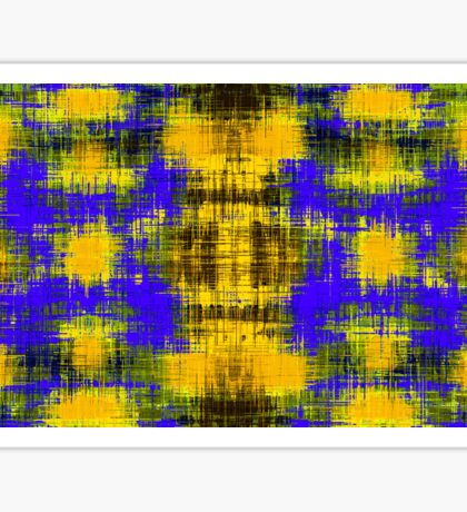 yellow purple and black plaid pattern abstract  Sticker