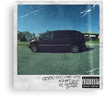 Kendrick Lamar - Good Kid, M.A.A.D City Canvas Print