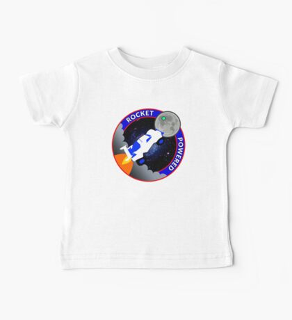 Rocket Powered Mission Patch Baby Tee