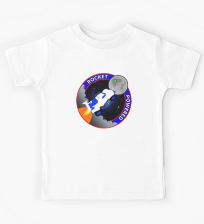Rocket Powered Mission Patch Kids Tee