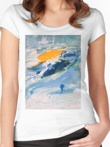 GLACIER Women's Fitted Scoop T-Shirt