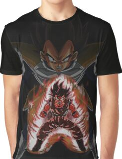 Goku (Kaio-Ken) and Vegeta (Saiyan Saga) Graphic T-Shirt