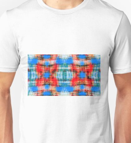 red blue green and black plaid pattern  Unisex T-Shirt