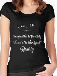 Alice Wonderland Shirt Imagination Is The Only Weapon In The War Against Reality Women's Fitted Scoop T-Shirt