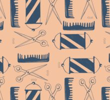 Blue and Pink Barber Pattern Sticker