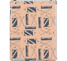 Blue and Pink Barber Pattern iPad Case/Skin