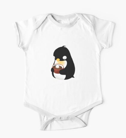 Penguin and his winter delight One Piece - Short Sleeve