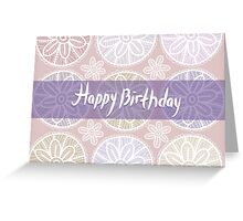 Happy Birthday Card Vintage lace  Greeting Card