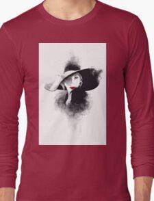 The hat, girl portrait Long Sleeve T-Shirt