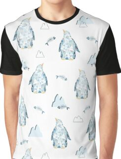 Pattern with little cute penguins on white background Graphic T-Shirt