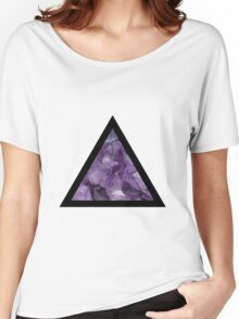 Amethyst Triangle Women's Relaxed Fit T-Shirt