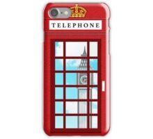 England Classic British Telephone Box Minimalist iPhone Case/Skin
