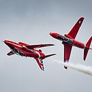 Preparing for the mirror pass, Red Arrows at Fairford by Cliff Williams