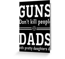 guns deads Greeting Card
