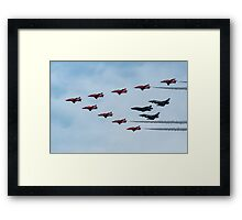 The present and the future, the RAF at Fairford, Gloucestershire, England Framed Print