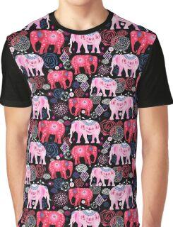 Bright pattern of beautiful elephants Graphic T-Shirt