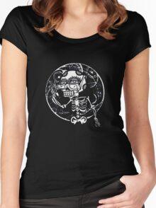 skull glasses Women's Fitted Scoop T-Shirt
