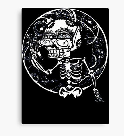 skull glasses Canvas Print