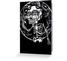 skull glasses Greeting Card