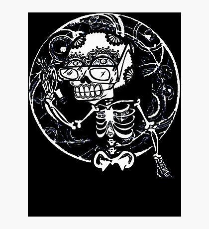 skull glasses Photographic Print