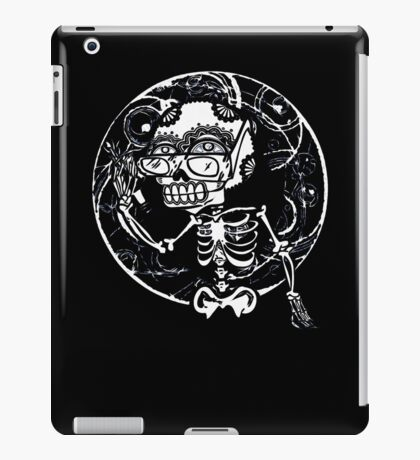 skull glasses iPad Case/Skin