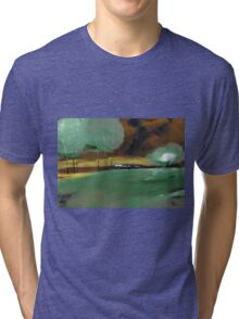 Abstract Landscape Tri-blend T-Shirt