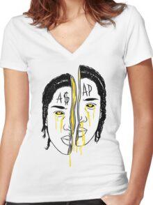 Asap Art Women's Fitted V-Neck T-Shirt