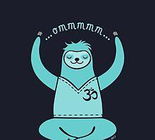 Om Yoga Sloth - blue by zoel