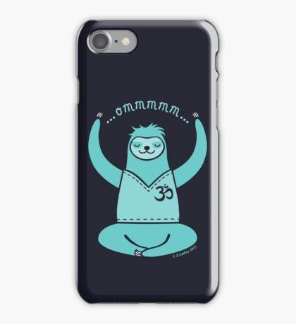 Om Yoga Sloth - blue iPhone Case/Skin